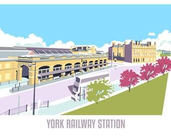Railway Station Greetings Card