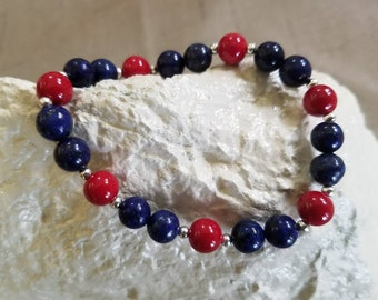 Lapis Lazuli with Red Agate Gemstones