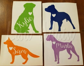 Dog Car Decal - Pit Bull Car Decal, Boxer Car Decal, German Shepherd Car Decal, Labrador Dog Decal, Dog Car Window Sticker