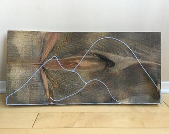 Mountains - El Wire on Wood