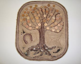the tree of moneyWall Panel, Home Decor, Wall Decoration, Handmade wall panel, Natural Materials, the tre of money