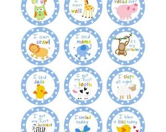 Sandra Magsamen Personalized Baby Boy Sticker Set
