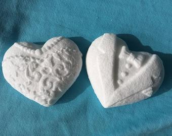 Bride & Groom Hearts - All Natural Bath Bomb