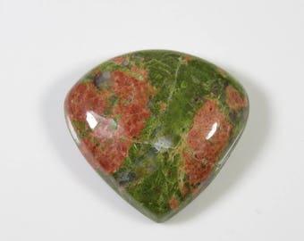 Unakite gemstone. Natural Unakite Cabochon. Heart shape 55 Cts. Unakite cabochon. Jewelry making Green Unakite loose gemstone MX-770
