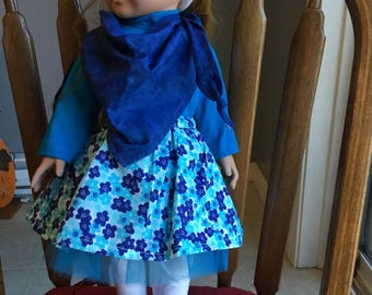 "Fun outfit fits 18"" dolls such as American girl"