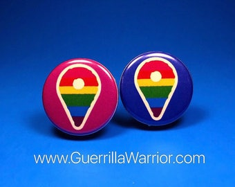 LGBT World Location (1.25 inch pinback button)