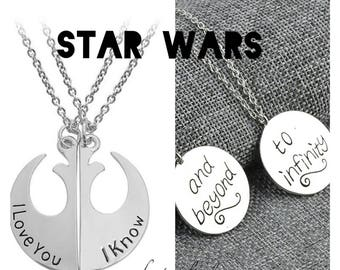 Necklaces STAR WARS Alliance love Friends Friendship Beyond Infinity and beyond