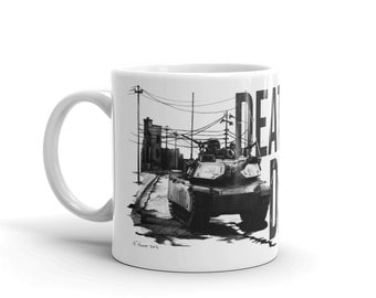 Abrams Mug - US Army - Military Art - Abrams Tank Mug - Gift for Him - Death Before Dismount