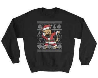 Funny Dabbing German Shepherd Ugly Christmas Sweater Cute Dog Gift
