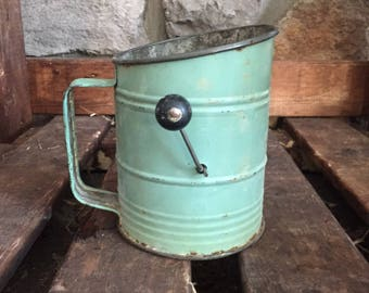 Vintage Bromwell's Bee Green Flour Sifter