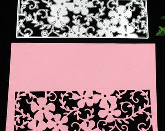 Flower Pattern Metallic Cutting Die Stencil
