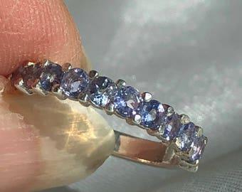 Natural Tanzanite .925 Sterling Silver Ring