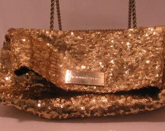 Victoria Secret gold clutch