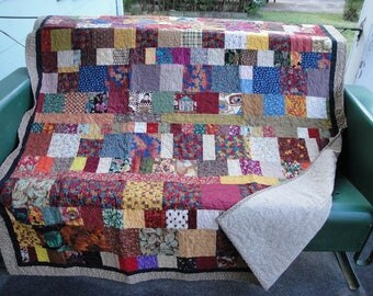 Fall Colors Patchwork Snuggle Quilt