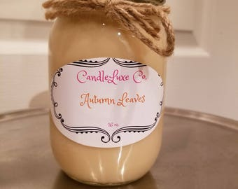 12 or 16 oz 100% Soy Candles with luxurious scents!