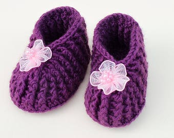 Crochet baby Shoes (#119)