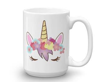 Unicorn Mug, Unicorn, Unicorn Gift, Unicorn Coffee Mug, Coffee Mug, Unicorn Face, Unicorns, Gift For Her, Rainbow Unicorn, Stocking Stuffer