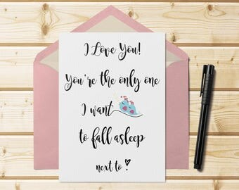 Valentine's Card Printable. You are the only one...  5x7 Instant Download. Funny Valentine. DIY Valentine's Card