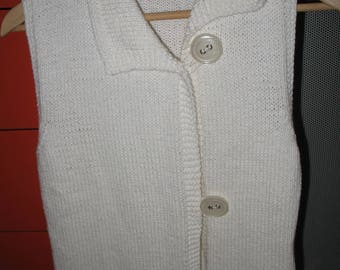 Hand-made cotton vest