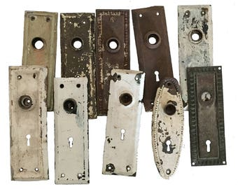 Antique Door Plates – Set of 10
