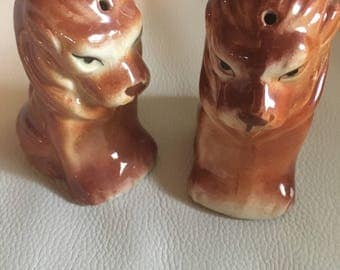 Vintage Lion Salt and Pepper Shaker