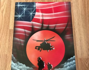 Military - Spray Paint Art