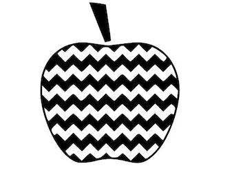 Chevron apple SVG cutting file