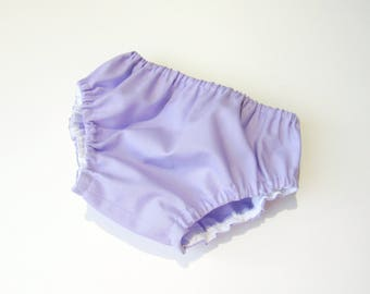 Lavender bloomers-Purple diaper cover-Baby solid color bloomers-Baby girl bloomers-Girl nappy cover-Summer baby girl clothes