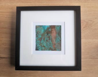 Copper with petina painting 25cmx25cm