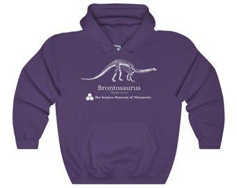Stranger Things Dustin Purple Hoodie Replica  Brontosaurus The Thunder Lizard  The Science Museum Of Minnesota