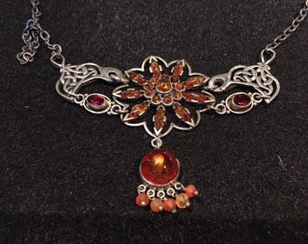 Amber, Garnet and Czech Glass