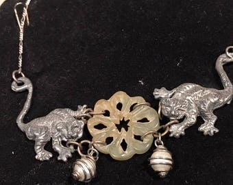 Tigers and Serpentine Necklace