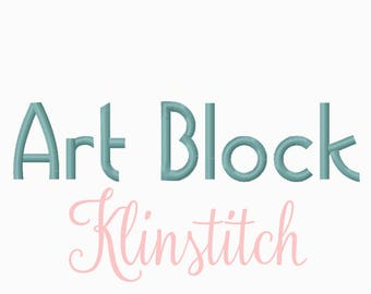 50% Sale!! Art Block Embroidery Fonts 5 Sizes Fonts BX Fonts Embroidery Designs PES Fonts Alphabets - Instant Download