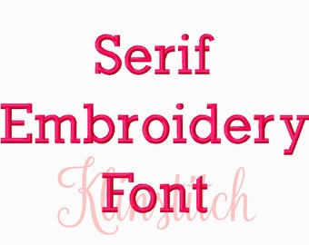50% Sale!! Serif Embroidery Fonts 3 Sizes Fonts BX Fonts Embroidery Designs PES Fonts Alphabets - Instant Download