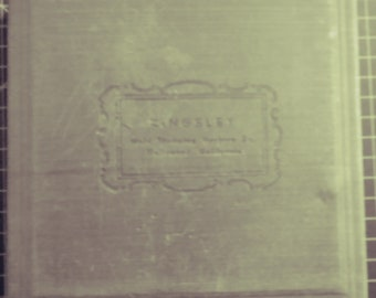 Antique Kingsley Stamping Machine word printers block  letter type stamp sticks-Goudy Cursive Caps box  set!!!