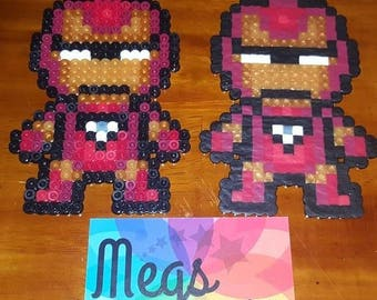 Perler Bead Art - Iron Man