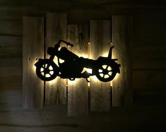 Harley Pallet Wood Wall Art