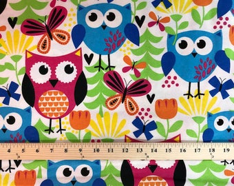 Cuddle Print Owls, Fabri-Quilt, Cotton Flannel, Fabric
