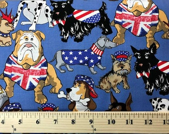 Britains Best, Kanvas Studios, Dogs, Quilting Fabric, Animal Print