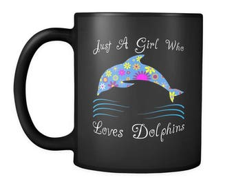 Dolphin Coffee Mug - This Cute Floral Dolphin Cup Will Definitely Get Smiles! - Perfect Dolphin Lover Gift Idea