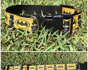 Handmade Dog Collar 'Mini Batman'