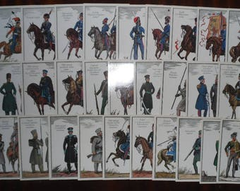 "USSR Cards. Soviet Vintage Cards. A full set of original cards ""The Russian Army of 1812"". 32 pcs."