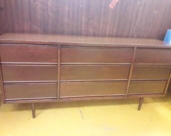 Mid Century 9 Drawer Dresser By Dixie