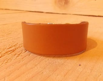 Leather Dog Collar for Small Lurcher/Whippet/Bedlington/Italian Greyhound/Puppy/Sighthound