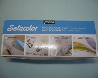 Item #6009 and #6010 Pebeo Setacolor Transparent Fabric Paint - 10 Assorted Colors