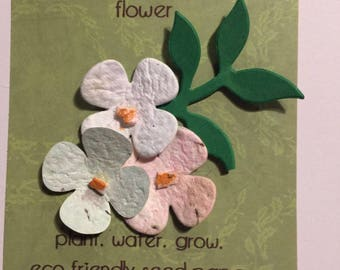Handmade in Ireland Seed paper cards plant and grow