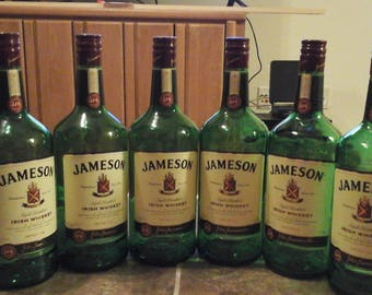 Jameson (6) 1.75 empty bottle for crafts