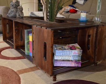 Distinctif Rectangle Crate Coffee Table