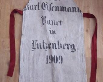 Men's apron vintage old sack of 1909