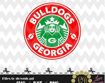 Bulldogs Georgia Coffee svg,png,dxf,shirt,jersey,football,college,university,decal,proud mom,disney,starbucks,ncaa,2018,custom,go dawgs